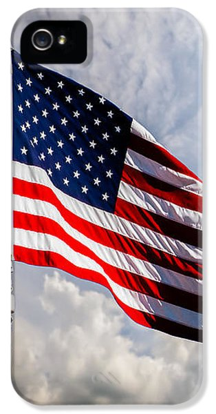 Glory iPhone 5 Cases - Portrait of The United States of America Flag iPhone 5 Case by Bob Orsillo