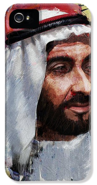 Chairman iPhone 5 Cases - Portrait of Zayed bin Sultan al Nahyan iPhone 5 Case by Maryam Mughal