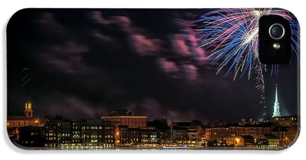 4th July iPhone 5 Cases - Portsmouth NH Fireworks 2013 iPhone 5 Case by Scott Thorp
