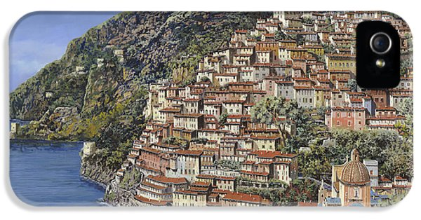 Harbour iPhone 5 Cases - Positano e la Torre Clavel iPhone 5 Case by Guido Borelli