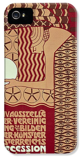 Fin De Siecle iPhone 5 Cases - Poster For The 14th Exhibition Of Vienna Secession, 1902 iPhone 5 Case by Alfred Roller