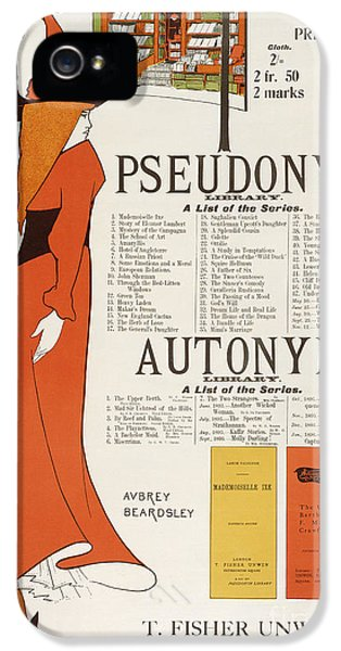 Fin De Siecle iPhone 5 Cases - Poster for The Pseudonym and Autonym Libraries iPhone 5 Case by Aubrey Beardsley