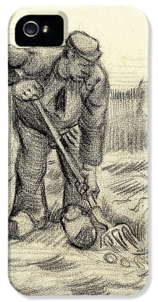 Potato Gatherer IPhone 5 / 5s Case by Vincent Van Gogh