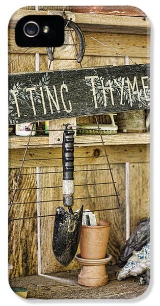 Potting Shed iPhone 5 Cases - Potting Thyme iPhone 5 Case by Heather Applegate
