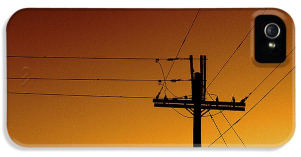 Power iPhone 5 Cases - Power Line Sunset iPhone 5 Case by Don Spenner