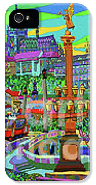 Old Tram iPhone 5 Cases - Prague Panorama with Manesuv Bridge iPhone 5 Case by Yuriy  Shevchuk
