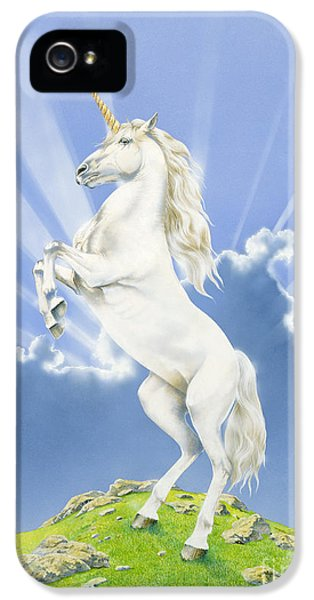 Prancing Unicorn IPhone 5 / 5s Case by Irvine Peacock