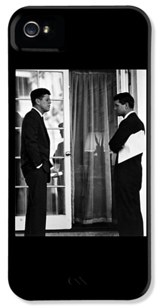 Brother iPhone 5 Cases - President John Kennedy And Robert Kennedy iPhone 5 Case by War Is Hell Store
