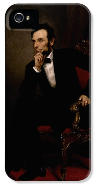 Abraham Lincoln iPhone 5 Cases - President Lincoln  iPhone 5 Case by War Is Hell Store