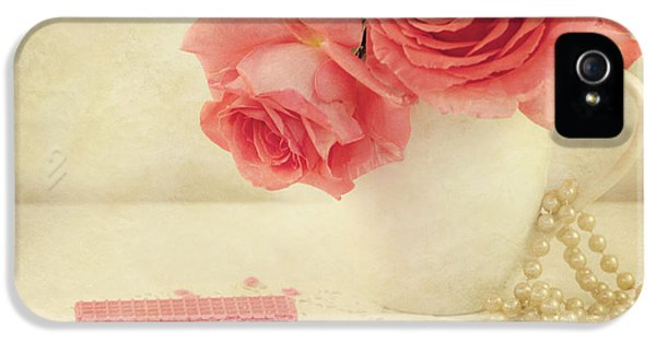 Pink Flowers iPhone 5 Cases - Pretty In Pink iPhone 5 Case by Juli Scalzi