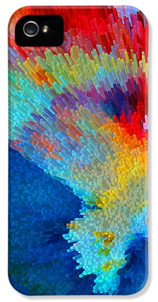 Striking iPhone 5 Cases - Primary Joy - Abstract Art by Sharon Cummings iPhone 5 Case by Sharon Cummings