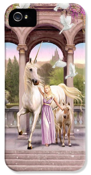 Princess Of The Unicorns Variant 1 IPhone 5 / 5s Case by Garry Walton