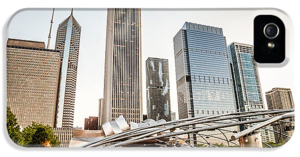 One Prudential Plaza Building iPhone 5 Cases - Pritzker Pavilion Chicago Skyline Photo iPhone 5 Case by Paul Velgos