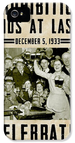 1930s iPhone 5 Cases - Prohibition Ends Celebrate iPhone 5 Case by Jon Neidert