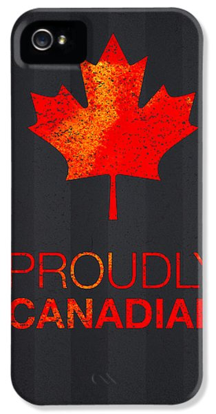 Proud iPhone 5 Cases - Proudly Canadian iPhone 5 Case by Aged Pixel