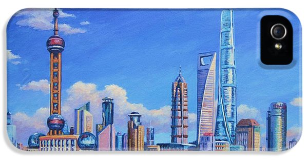 Pudong Skyline  Shanghai IPhone 5 / 5s Case by John Clark
