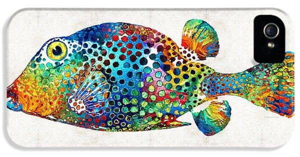 Puffer Fish Art - Puff Love - By Sharon Cummings IPhone 5 / 5s Case by Sharon Cummings