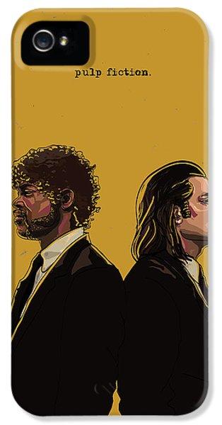 Digital iPhone 5 Cases - Pulp Fiction iPhone 5 Case by Jeremy Scott