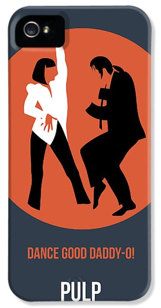 Tv Show iPhone 5 Cases - Pulp Fiction Poster 6 iPhone 5 Case by Naxart Studio