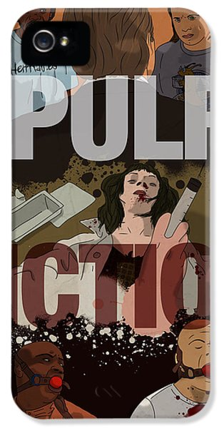 Harvey Keitel iPhone 5 Cases - Pulp Fiction iPhone 5 Case by Ralf Wandschneider