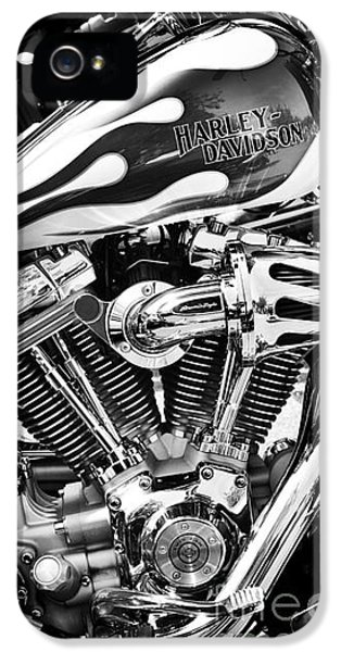 Chrome iPhone 5 Cases - Pure Harley Chrome iPhone 5 Case by Tim Gainey