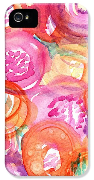 Bouquet iPhone 5 Cases - Purple and Orange Flowers iPhone 5 Case by Linda Woods