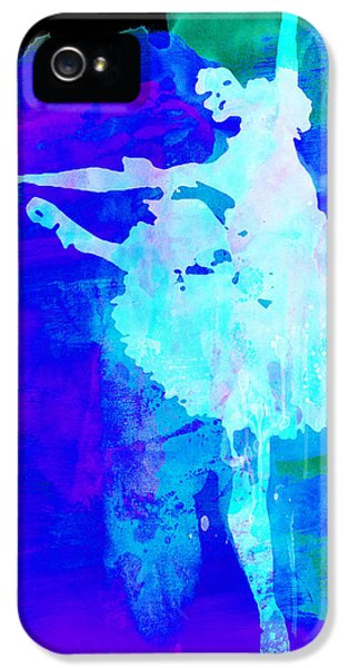 Beautiful Dancer iPhone 5 Cases - Purple Ballerina Watercolor iPhone 5 Case by Naxart Studio