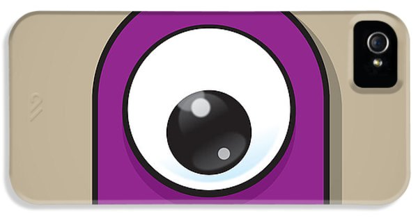 Eyeball iPhone 5 Cases - Purple iPhone 5 Case by Samuel Whitton