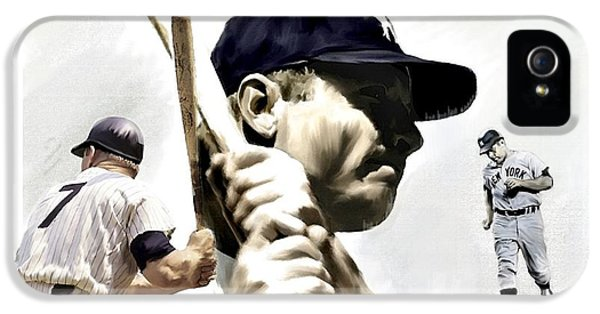 Quality Of Greatness Mickey Mantle IPhone 5 / 5s Case by Iconic Images Art Gallery David Pucciarelli