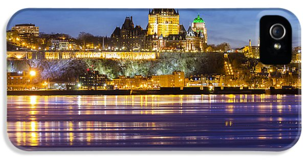 Harborfront iPhone 5 Cases - Quebec City by Night iPhone 5 Case by Mircea Costina Photography