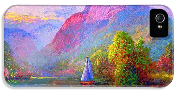 Colourful iPhone 5 Cases - Quiet Haven iPhone 5 Case by Jane Small
