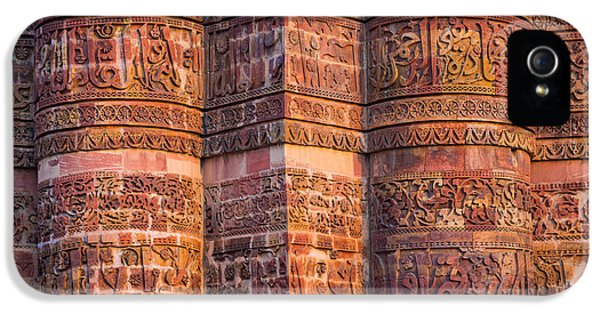 Arabic iPhone 5 Cases - Qutab Minar Detail iPhone 5 Case by Inge Johnsson