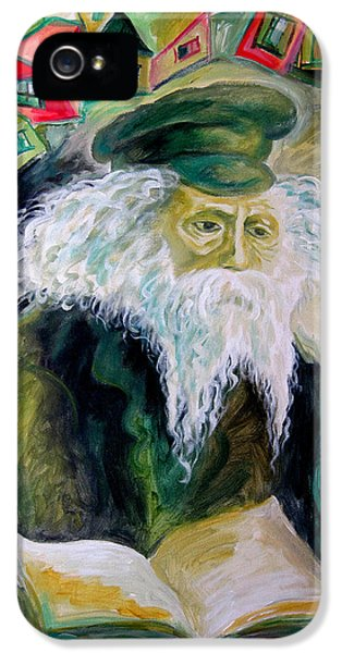 Judaica iPhone 5 Cases - Rabbi Yosef Rosen The Rogatchover Gaon iPhone 5 Case by  Leon Zernitsky