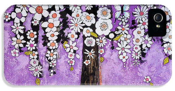 Artsy iPhone 5 Cases - Radiant Orchid Flower Tree iPhone 5 Case by Blenda Studio