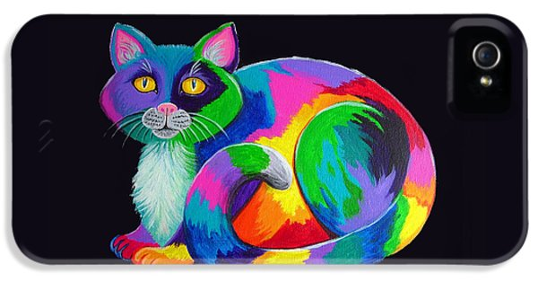 Charming iPhone 5 Cases - Rainbow Calico iPhone 5 Case by Nick Gustafson