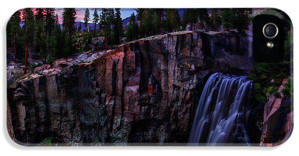National Monuments iPhone 5 Cases - Rainbow Falls Devils Postpile National Monument iPhone 5 Case by Scott McGuire