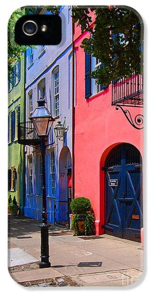 Rainbow Row Charleston IPhone 5 / 5s Case by Skip Willits