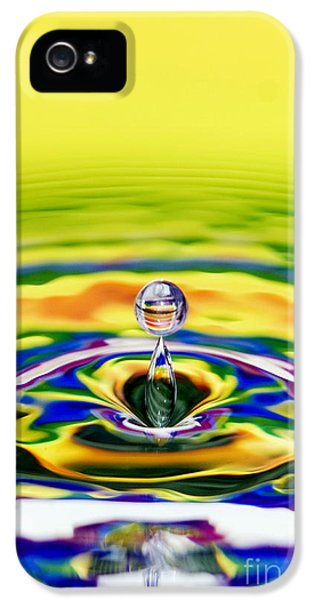 Spectrum iPhone 5 Cases - Rainbow Water drop iPhone 5 Case by Tim Gainey