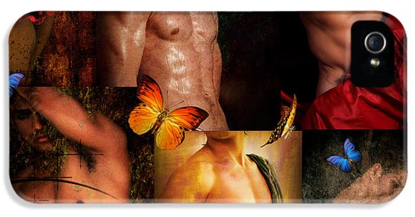 Gay Art iPhone 5 Cases - Raining Man iPhone 5 Case by Mark Ashkenazi