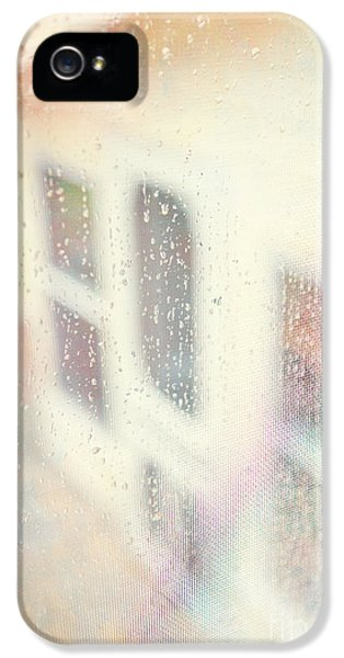 Rain.window iPhone 5 Cases - Rainy Day Window iPhone 5 Case by Kay Pickens