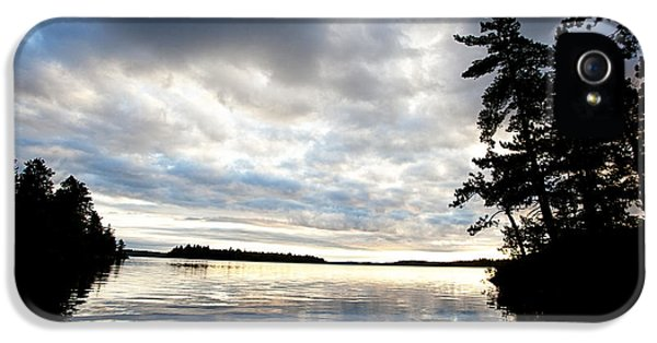 Sillouette iPhone 5 Cases - Rainy Lake Bay iPhone 5 Case by Lori Knisely