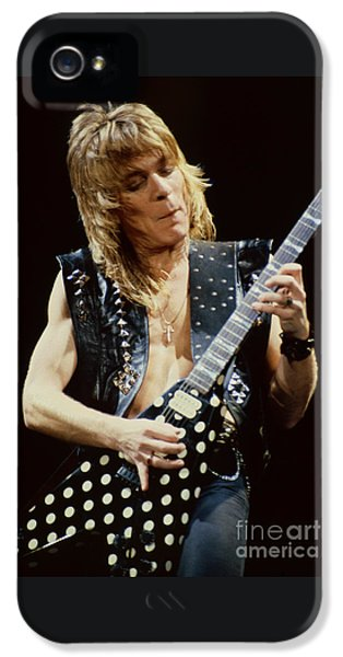 Randy Rhoads At The Cow Palace During Guitar Solo IPhone 5 / 5s Case by Daniel Larsen