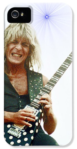 Randy Rhoads New Release At The Green With Super Nova Effect - July 4th 1981 IPhone 5 / 5s Case by Daniel Larsen