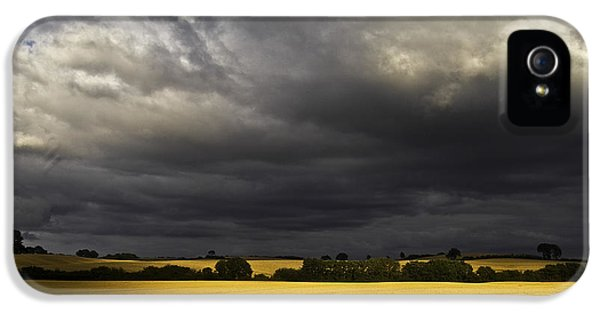 Dramatic Skies iPhone 5 Cases - Rapefield Under Dark Sky iPhone 5 Case by Heiko Koehrer-Wagner
