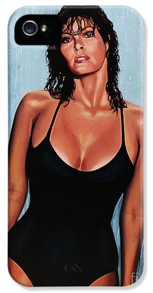 Moviestar iPhone 5 Cases - Raquel Welch iPhone 5 Case by Paul  Meijering
