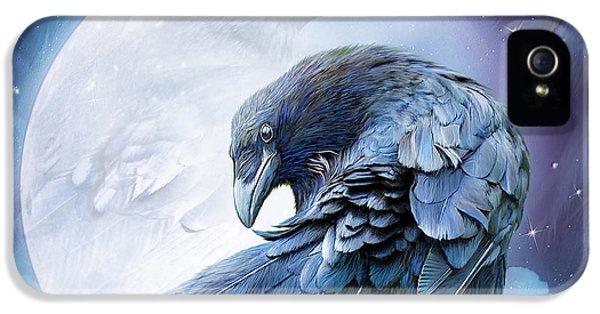 Prey iPhone 5 Cases - Raven Moon iPhone 5 Case by Carol Cavalaris