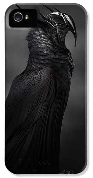 Mech iPhone 5 Cases - RavenMech iPhone 5 Case by Alex Ruiz