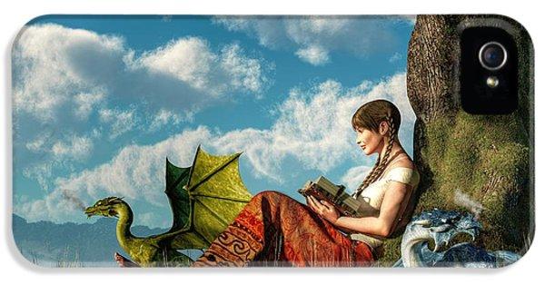 Reading About Dragons IPhone 5 / 5s Case by Daniel Eskridge