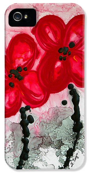 Poppy iPhone 5 Cases - Red Asian Poppies iPhone 5 Case by Sharon Cummings