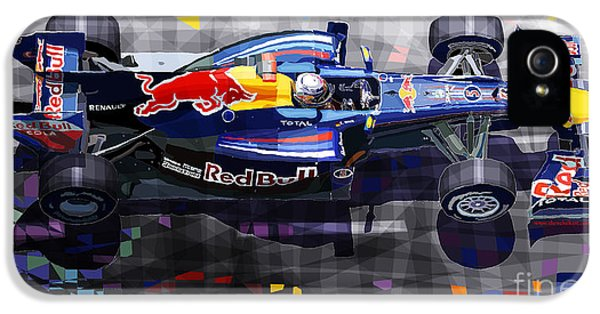Automotive iPhone 5 Cases - Red Bull RB6 Vettel 2010 iPhone 5 Case by Yuriy  Shevchuk
